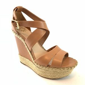 Vince Camuto wedge ankle strap sandals 9 M 39